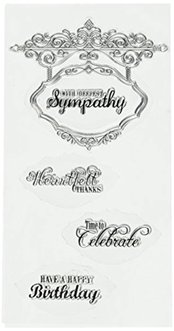 Sizzix 660641 Hanging Sign with Phrases Interchangeable Stamps by Jen Long, Clear