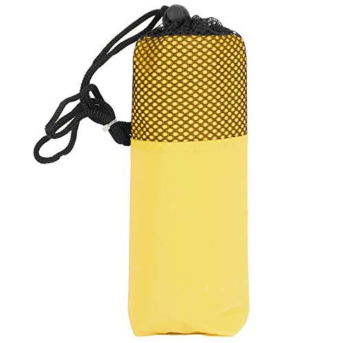 CHICIRIS Chubasquero Dult, Ropa Impermeable Ligera para Adultos con una Bolsa de Malla para emergencias, Viajes en días lluviosos para Acampar, Eventos al Aire Libre.(Yellow)