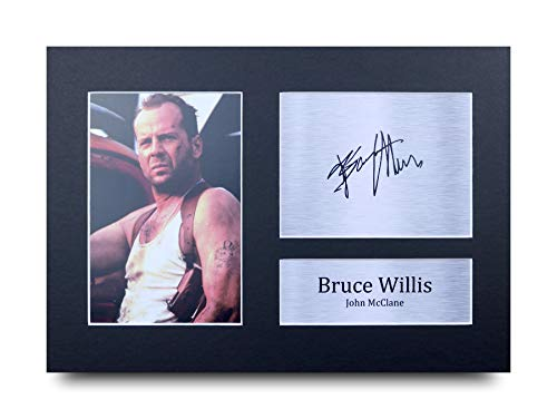 HWC Trading Bruce Willis A4 Ungerahmt Signiert Gedruckt Autogramme Bild Druck-Fotoanzeige Geschenk Für Die Hard Filmfans