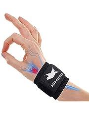 Polsband, compressie polssteun wrap met elastische haak en lus riemen, ademende polsband voor artritis, tendinitis, polsbreuk, polsverstuiking