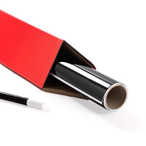 Writeyboard Best Self-Adhesive Dry Erase Whiteboard Removable Vinyl Wall Paper, Black, 4x8 Feet