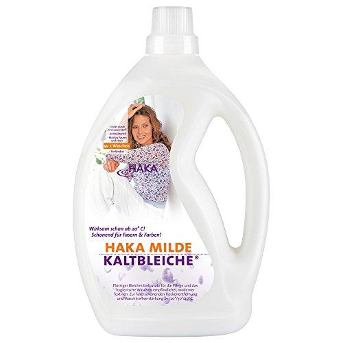 HAKA Milde Kaltbleiche I 2 Liter Bleichmittel auf Sauerstoffbasis I Kombinierbar mit HAKA Waschmittel I Hygienischer Fleckenentferner
