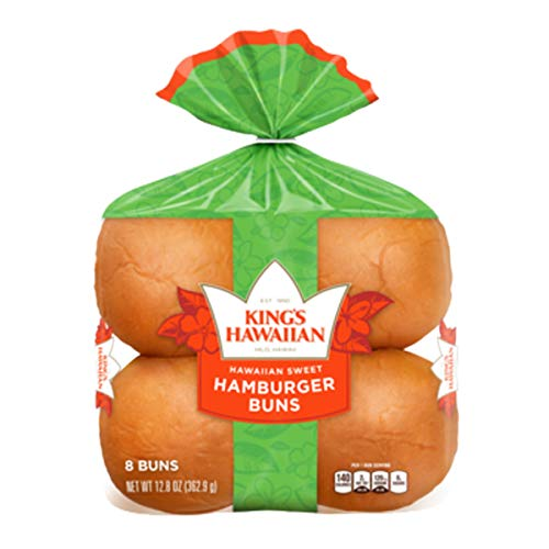King's Hawaiian Sweet Hamburger Buns, 8 ct, 12 oz