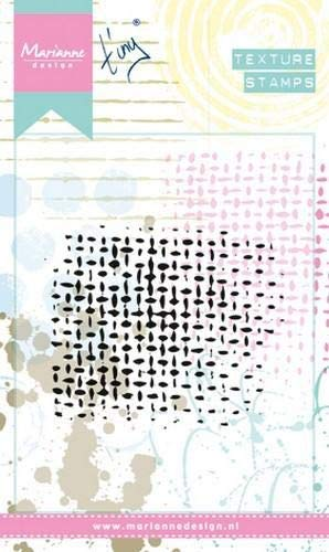 Sellos con Textura de Marianne Design, la Malla, para Crear Coloridas e Artísticas Ilustraciones en el Fondo del Papel