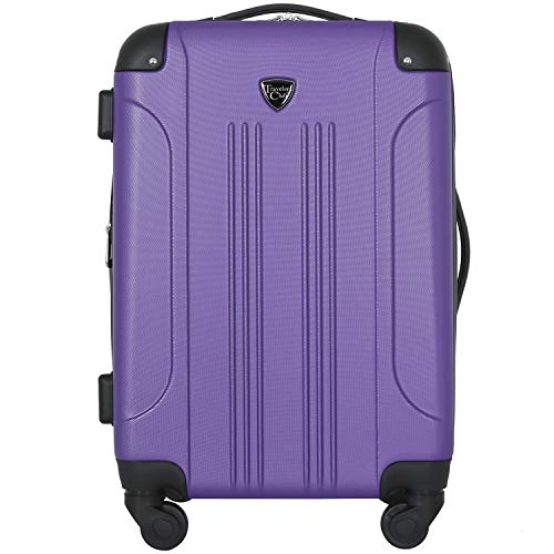 Travelers Club Chicago II 20' Expandable Spinner Carry-On Luggage, Purple