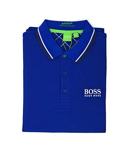 Hugo Boss Polo para hombre, Azul Royal, X-Large