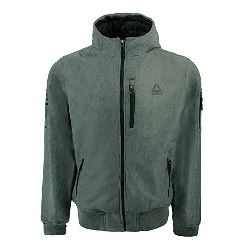 Reebok Herren Standard Softshell Active Jacke mit Kapuze Grau 2XL