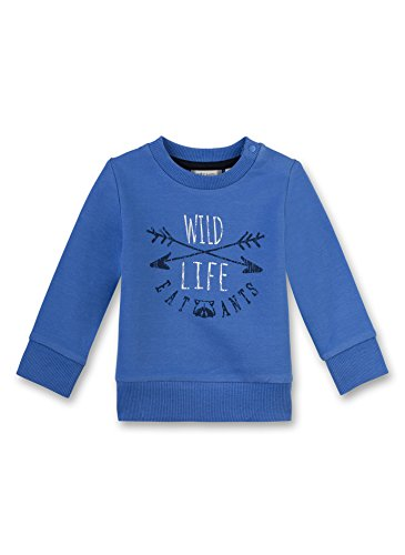 Sanetta Baby-Jungen 114087 Sweatshirt, Blau (Bright Cobalt 50249), 74