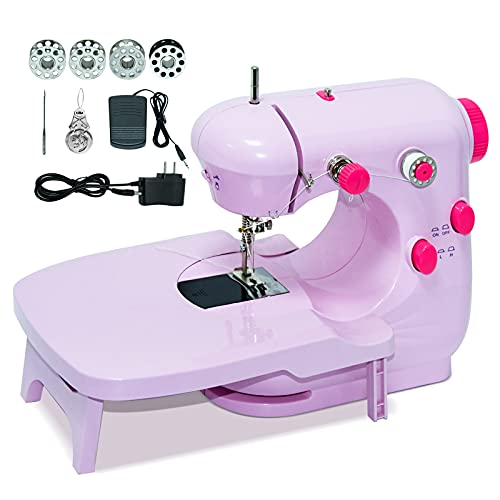Mini Sewing Machine, Kids Sewing Machine with Extension Table, Basic Sewing...