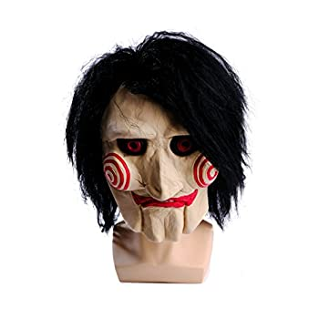 wellin international Saw Billy The Puppet Mask  Scary Halloween Clown Latex Party Masquerade Props