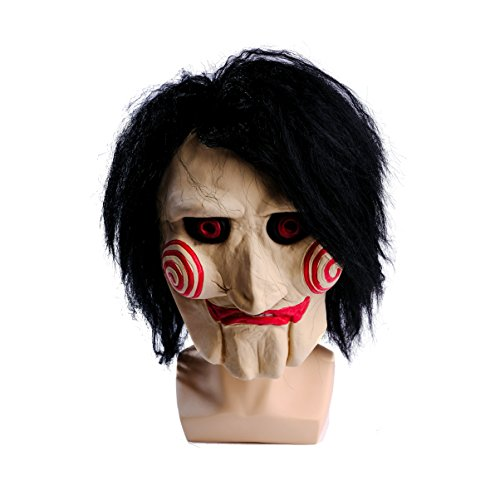 wellin international WELLIN Party Halloween Saw Billy The Puppet Mask, Latex Masquerade Prop Christmas