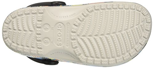 Crocs ClsscTropicsClg, Unisex Adults' Crocs Classic Tropics Clog, Multicoloured (Pearl White), M5/W6 UK (38-39 EU)