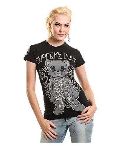 Horror-Shop Cupcake Cult Scare Bear T-Shirt L