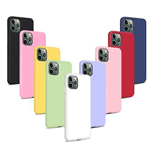 9X Cover per iPhone 11 PRO Max/XI Max 2019 (6.5), Morbido Silicone Case Tinta Unita Ultra Sottile Custodia TPU Flessibile Gomma Protezione Posteriore Antiscivolo Protettiva Skin Caso - 9 Colori