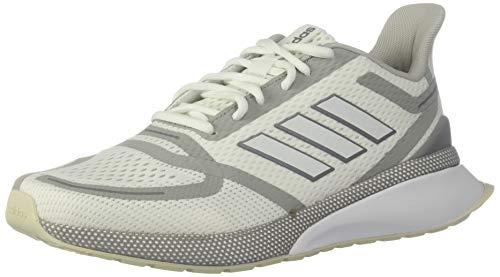 adidas Herren Nova Run Shoes, Weiß/Weiß/Grau, 40 EU