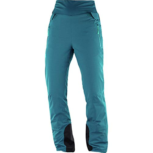 SALOMON Catch Me Pant W Skiing Pants, Deep Lagoon, X-Small/Regular