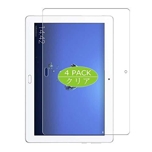 VacFun 4 Piezas HD Claro Protector de Pantalla Compatible con Huawei MediaPad M3 Lite 10 WATERPLAY WP 10.1', Screen Protector Sin Burbujas Película Protectora (Not Cristal Templado) New Version