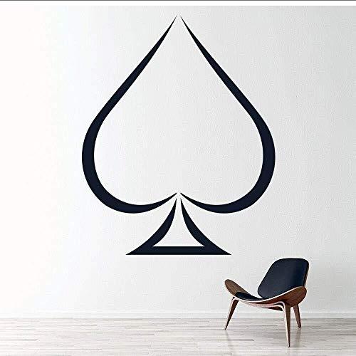 Spaten Solitaire Kartenspiel Wandaufkleber Dekoration 57X70 cm, Abnehmbare Vinyl Aufkleber Für Wohnzimmer Schlafzimmer Dekoration