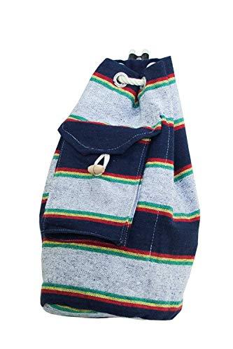 VENERIS MILANO Turnbeutel aus robuster Baumwolle – Stoffrucksack mit Außentasche und verschließbarer Innentasche (Jungle Fever)