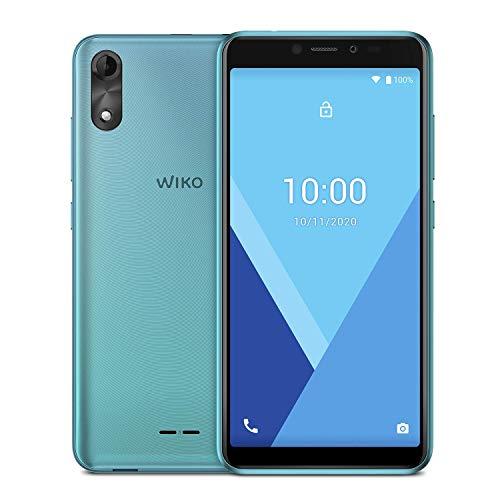 "WIKO Y51 - Smartphone de 5,45"" (Dual SIM, 16GB de ROM ampliables, cámaras de 5MP, Flash, Quad-Core 1,3GHz, 1GB RAM, Modo fácil de Uso) Mint"