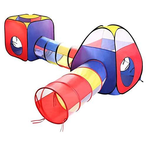 LGRQWER 4In1 Kinder-Ball Pit Zelte Und Tunnel, Spielzelte Crawl-Tunnel Und Kugel-Grube, Für Innen- Und Außenanwendungen Mit Einkaufstasche,A