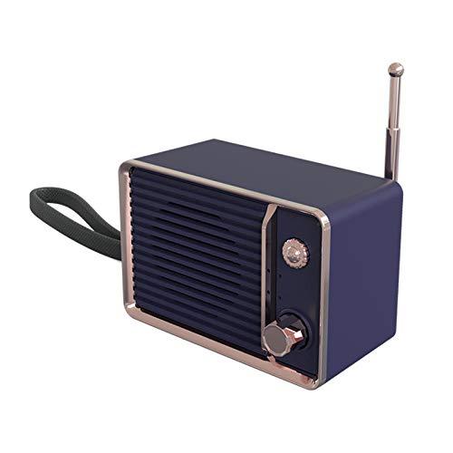 linqingshiduodeshangmaoyouxiangongsi ist Präfekt für Streaming/Podcasting/Gaming Mini Retro tragbare drahtlose Bluetooth-Lautsprecher Handy-Subwoofer (Color : White)