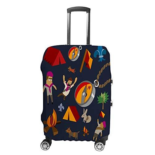 CHEHONG Reisegepäck-Abdeckung, Kofferschutz, passend für 48,3–81,3 cm Gepäckkoffer, Schutzabdeckung, Camping-Set, flach, waschbar