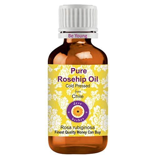 Deve Herbes Aceite de rosa mosqueta puro (Rosa rubiginosa) 100% natural de grado terapéutico prensado en frío, 10 ml (9,4 g)