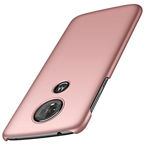 Moto E5 Plus Case [Colorful Series] [ Hard PC ] [Ultra-Thin] [Anti-Drop] Minimalist Slim Protective Phone Case Back Cover for Moto E5 Plus (Smooth rose gold)