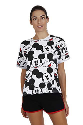 Disney Pijama Manga Corta Mickey Heads para Mujer