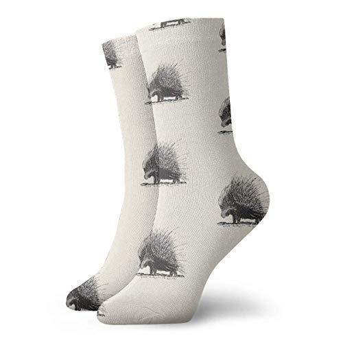 Porcupine Calcetines clásicos de ocio deporte calcetines cortos 30cm/11.8inch adecuado para hombres y mujeres