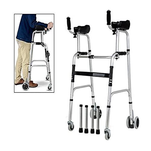 Deambulatore per Anziani Sedia da Bagno Anziani con Sedile Ausiliario per disabili