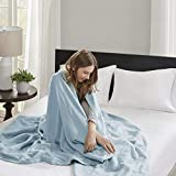 Madison Park Liquid Cotton Luxury Blanket Premium Soft Cozy 100% Ring Spun Cotton For Bed , Couch or...