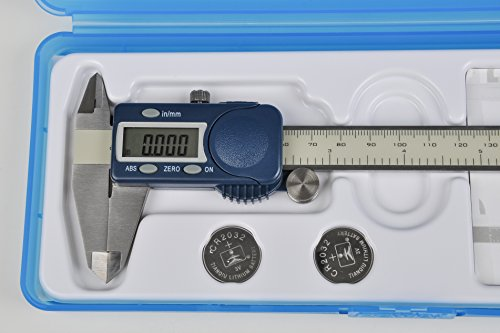 """Fowler 54-101-150-2 Xtra-Value Cal Electronic Caliper, Stainless Steel, 0 to 6""""/0 to 150mm Measuring Range, 0.0005""""/0.01mm Resolution, LCD"""