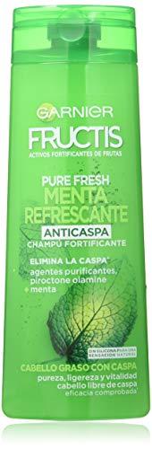 Garnier Fructis Pure Fresh Menta Refrecante Champú Pelo Graso con Caspa - 360 ml