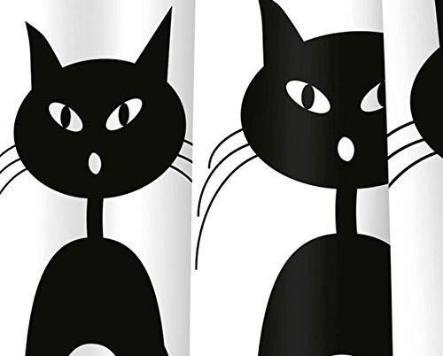 Gedy Duschvorhang g-miao weiß/schwarz 180x 200(6018774330)