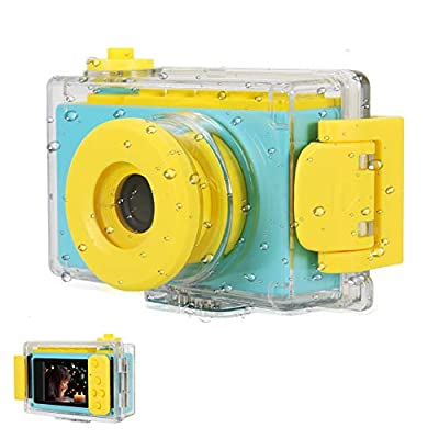 myFirst Camera 2 Waterproof Kids Camera Mini 8MP 1080P HD Camcorder with Free 16GB MicroSD Card Included and MicroSD Support Slot Video Taking Function and Preset Frames by OAXIS