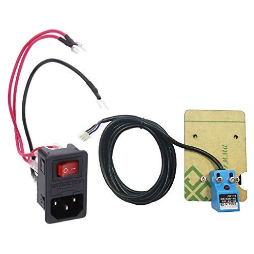 IPOTCH Conector Macho de Alimentación 10a Interruptor de Enchufe del Módulo de Entrada + Sensor de Posición de Nivelación Automática