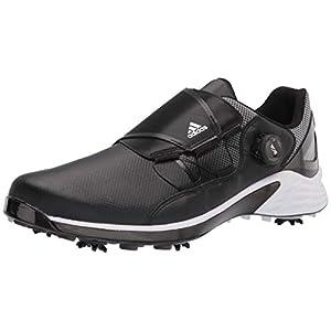 adidas mens Zg21 Boa Golf Shoe, Black/White/Lghsolgre, 11 US