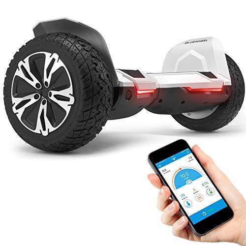 """Bluewheel 8.5"""" Hoverboard patín eléctrico HX510 con UL2272 estándar de Seguridad, Cambia de Color con la App, Altavoz Bluetooth, Motor 700W, Patinete eléctrico con Cobertura de Aluminio (Blanco)"""