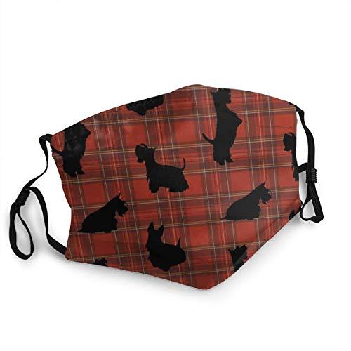 Mascarilla reutilizable Boston Terrier con decoraciones navideñas, lavable para hombres y mujeres,...