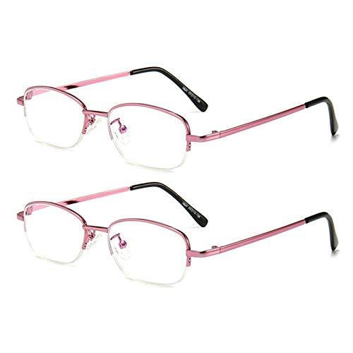 Gafas De Lectura, Medio Marco Clásico Recubrimiento De Resina HD Gafas Luz Azul Antirreflejos UV para Los Ojos Bisagra Comfort Spring Gafas para Ordenador para Hombres Mujeres,B,+ 3.00 X