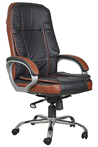 Casa Copenhagen High Back Leatherette Executive Office/Ergonomic Chair/Director Chair - Black Tan