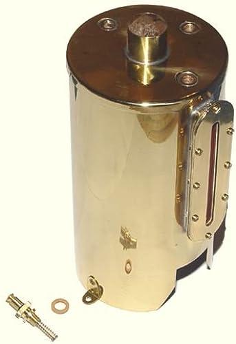 01657 - Wilesco ET - Kessel mit Federsicherheitsventil inkl. Glas, Messing blank