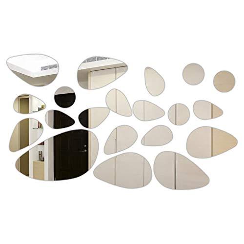 Qinghengyong Gotas Espejo 3D Etiqueta de la Pared de Fondo de Pantalla Agua Sala Baño Arte de la Etiqueta del Papel Pintado decoración del hogar