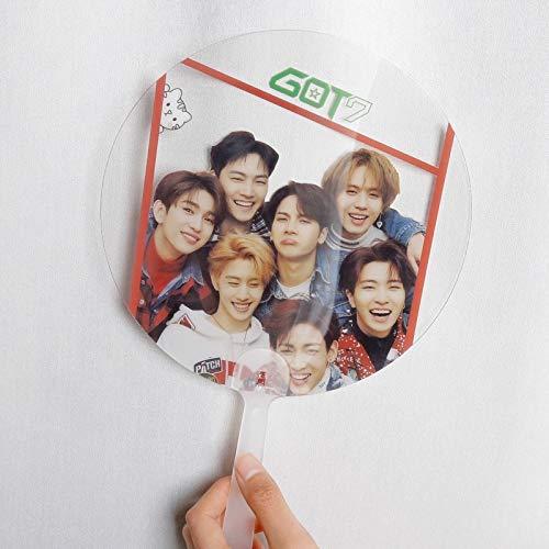 Kpop GOT7 Jackson Mark BAMBAM JB verano transparente Mini ventilador de mano de viaje portátil pequeño ventilador redondo fresco regalo de fiesta creativo