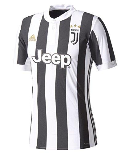 adidas JUVE H JSY Camiseta 1ª Equipación Juventus 2017-2018, Hombre, Blanco/Negro, L