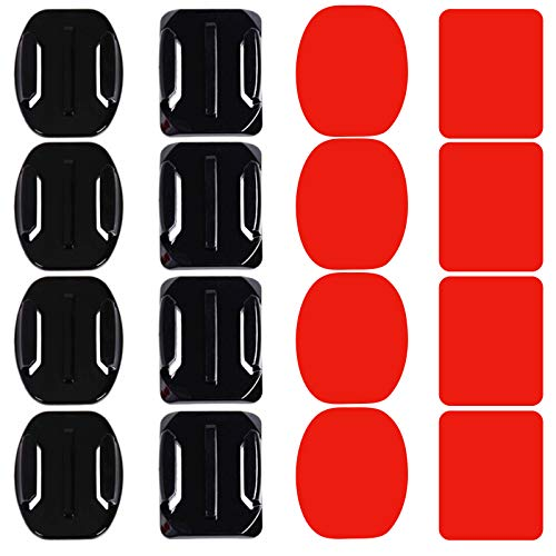 PROGARMENTS 16Pcs Helmet Adhesive Mount, Sticky Flat Curved 3M Mounts for GoPro Hero 9, 8, 7, 6, 5, 4, 3, 2, 1, Fusion Cameras