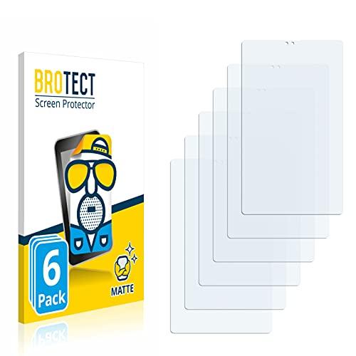 BROTECT Protector Pantalla Anti-Reflejos Compatible con Samsung Galaxy Tab A7 Lite LTE 2021 (Retrato) (6 Unidades) Pelicula Mate Anti-Huellas