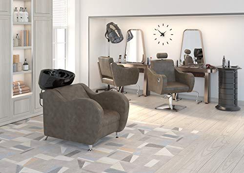 Salon completo conjunto pack mobiliario de Peluqueria ONDA incluye lavacabezas, silla y silla con inclinación MARRON